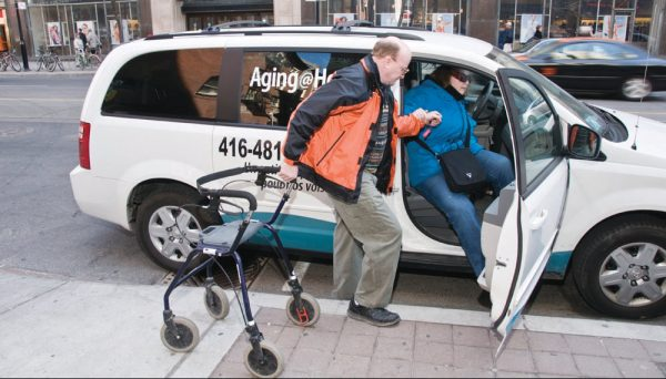 driver and client - transportation for seniors